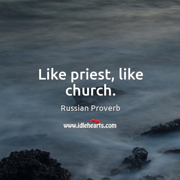 Image, Like priest, like church.
