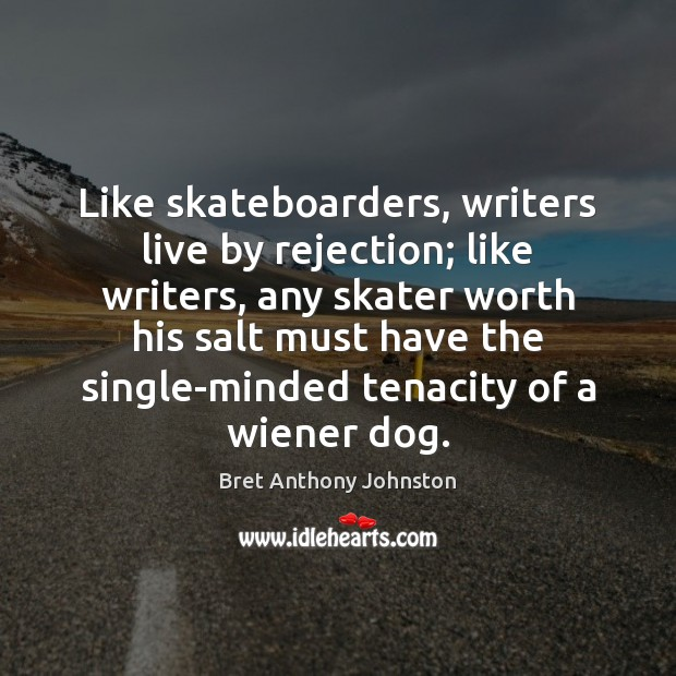Image, Like skateboarders, writers live by rejection; like writers, any skater worth his
