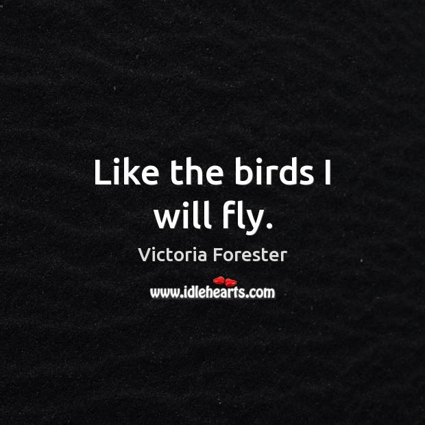 Like the birds I will fly. Image