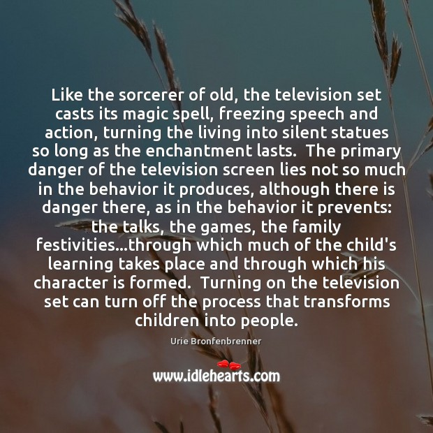 Like the sorcerer of old, the television set casts its magic spell, Image