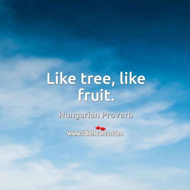 Like tree, like fruit. Image