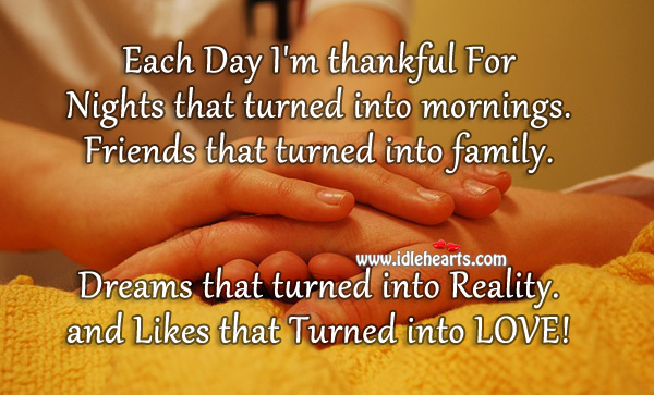 a day to be thankful for