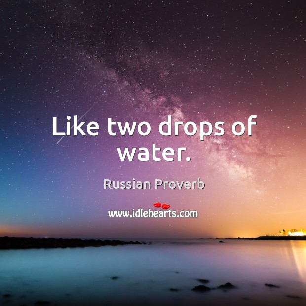 Like two drops of water. Image