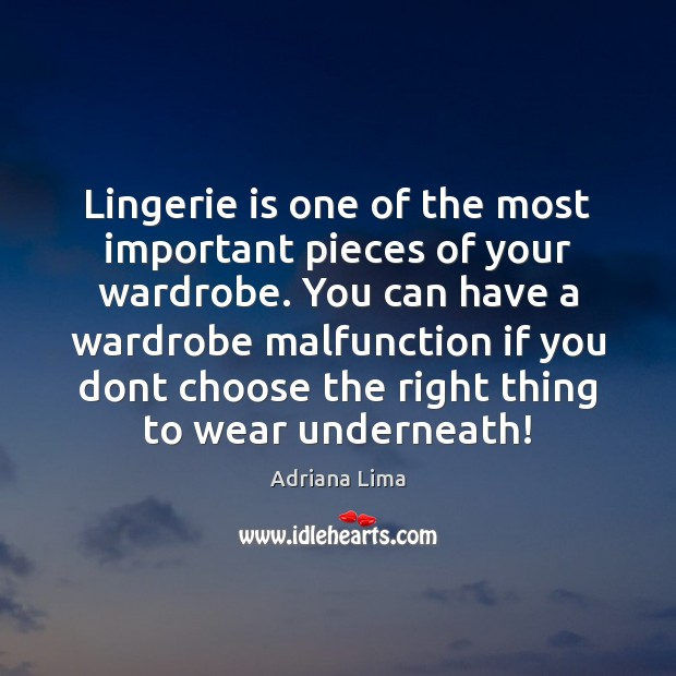 Image, Lingerie is one of the most important pieces of your wardrobe. You