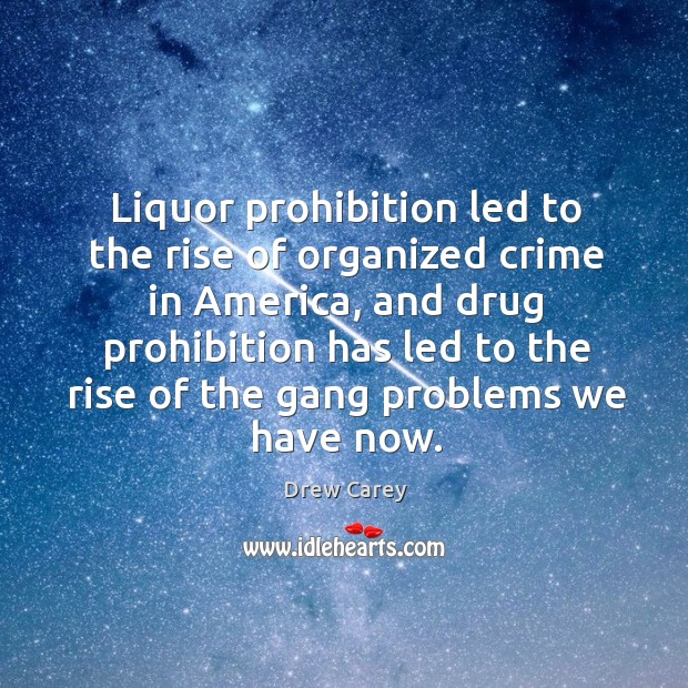 Image, Liquor prohibition led to the rise of organized crime in america