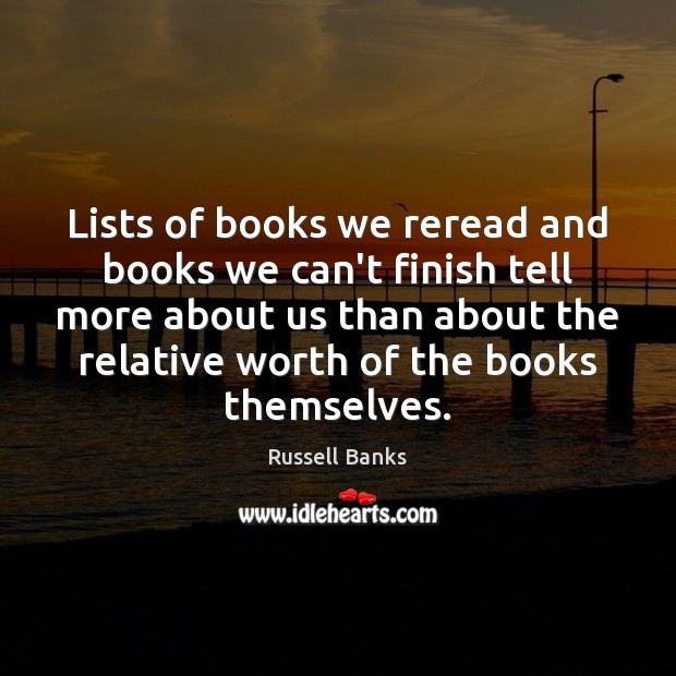 Lists of books we reread and books we can't finish tell more Image