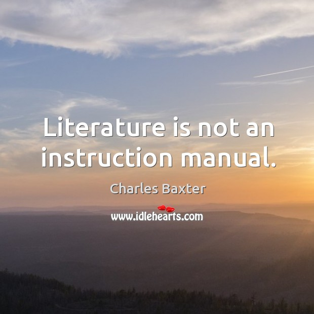 Picture Quote by Charles Baxter