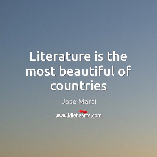 Literature is the most beautiful of countries Image