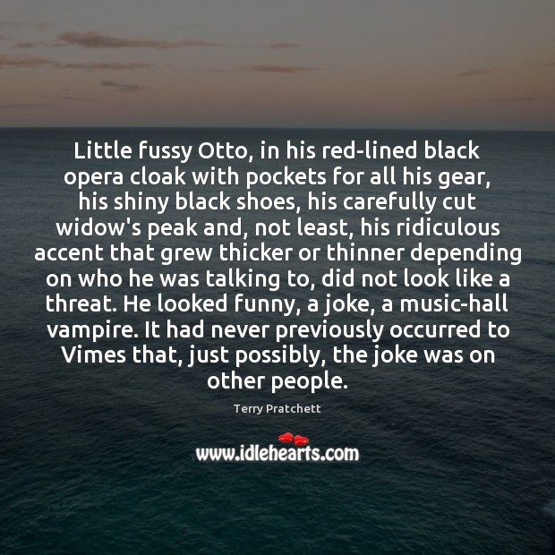 Little fussy Otto, in his red-lined black opera cloak with pockets for Image