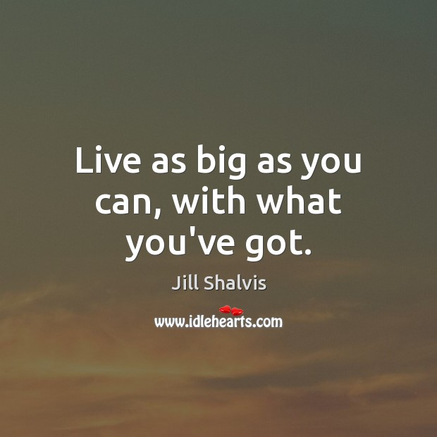 Image, Live as big as you can, with what you've got.