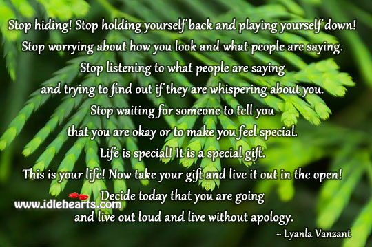 Life is special! it is a special gift. Gift Quotes Image