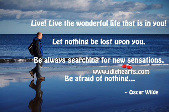 Live! Live The Wonderful Life That Is In You!