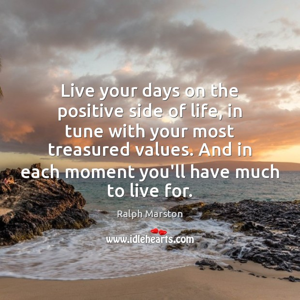 Image, Live your days on the positive side of life, in tune with
