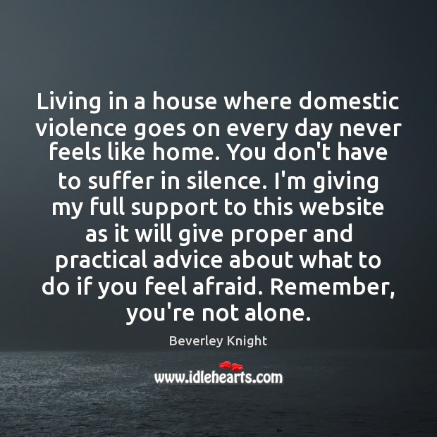 Image, Living in a house where domestic violence goes on every day never