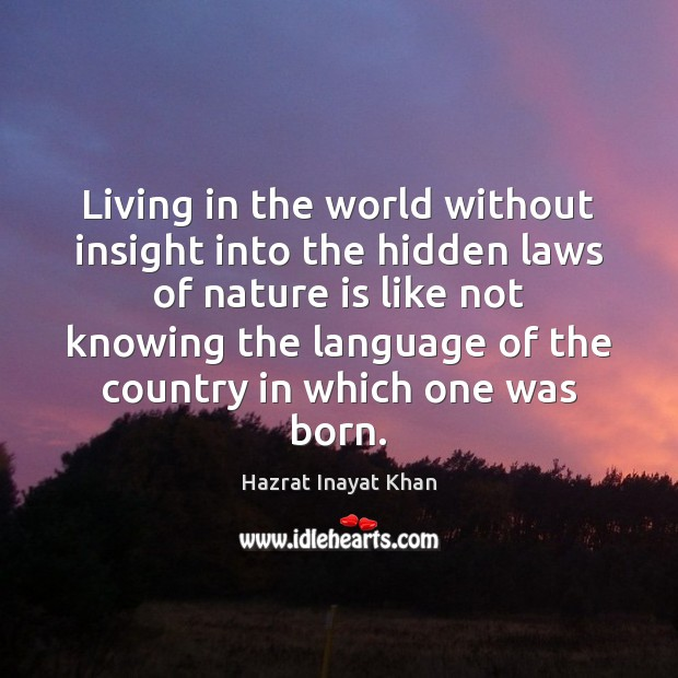 Living in the world without insight into the hidden laws of nature Image