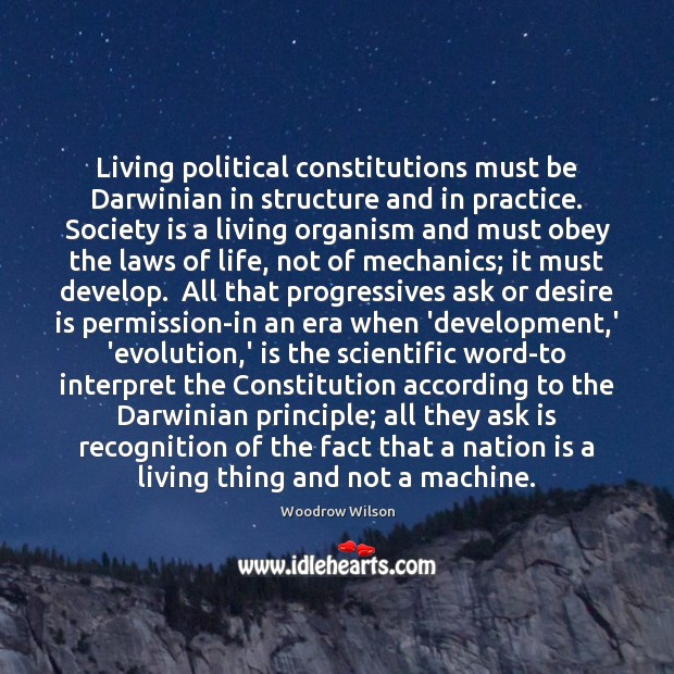 Image, Living political constitutions must be Darwinian in structure and in practice. Society