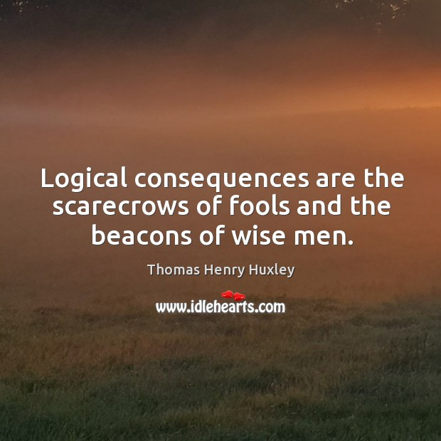 Logical consequences are the scarecrows of fools and the beacons of wise men. Image