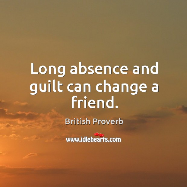 Image, Long absence and guilt can change a friend.