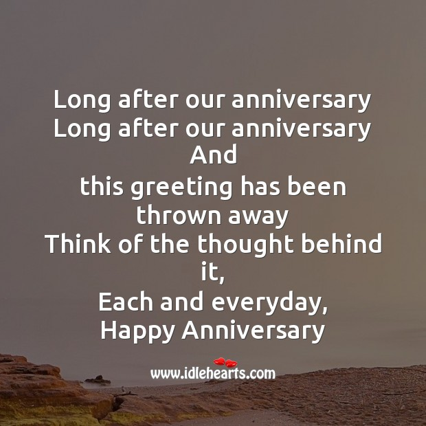 Long after our anniversary Image