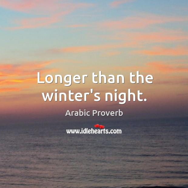 Image, Longer than the winter's night.