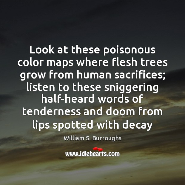 Look at these poisonous color maps where flesh trees grow from human Image