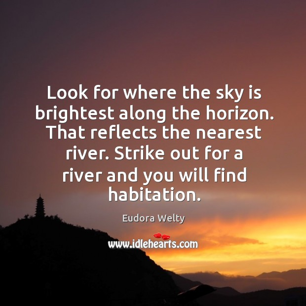 Look for where the sky is brightest along the horizon. That reflects Image