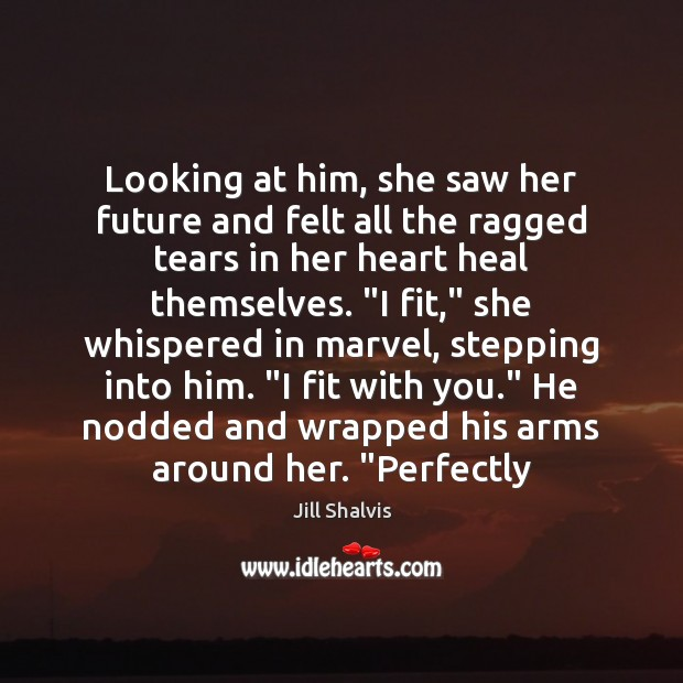 Image, Looking at him, she saw her future and felt all the ragged