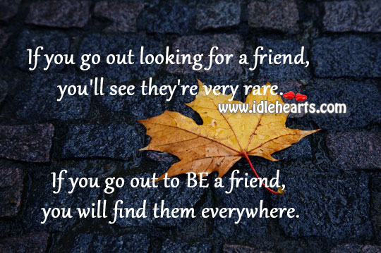 Find, Friend, See, Will