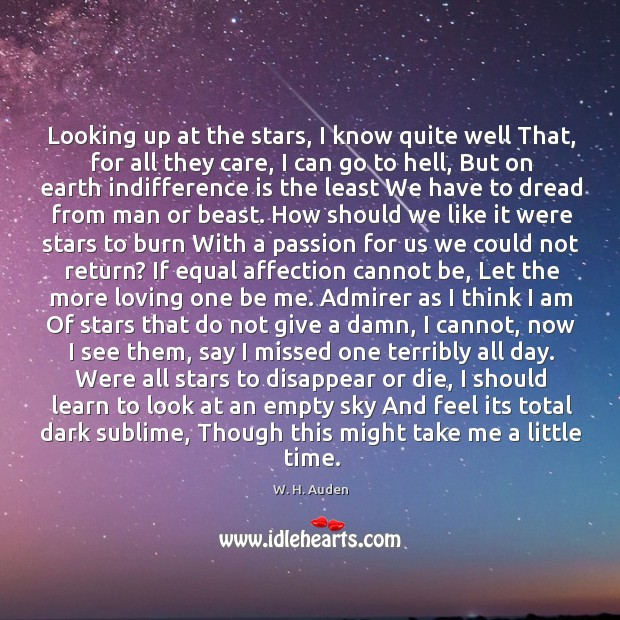 Looking up at the stars, I know quite well That, for all Image