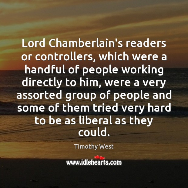 Image, Lord Chamberlain's readers or controllers, which were a handful of people working