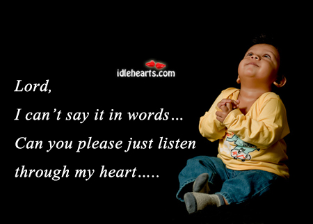 Lord, I can't say it in words Image