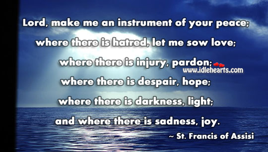 Image, Lord, make me an instrument of your peace