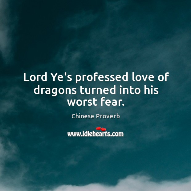 Image, Lord ye's professed love of dragons turned into his worst fear.
