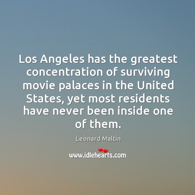 Los angeles has the greatest concentration of surviving movie palaces in the united states Image