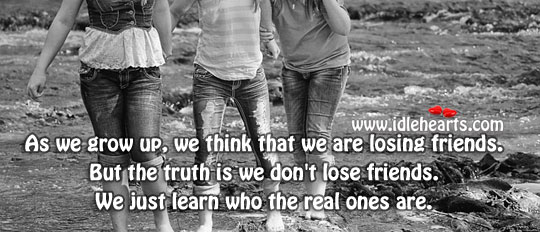 We don't lose friends. Truth Quotes Image