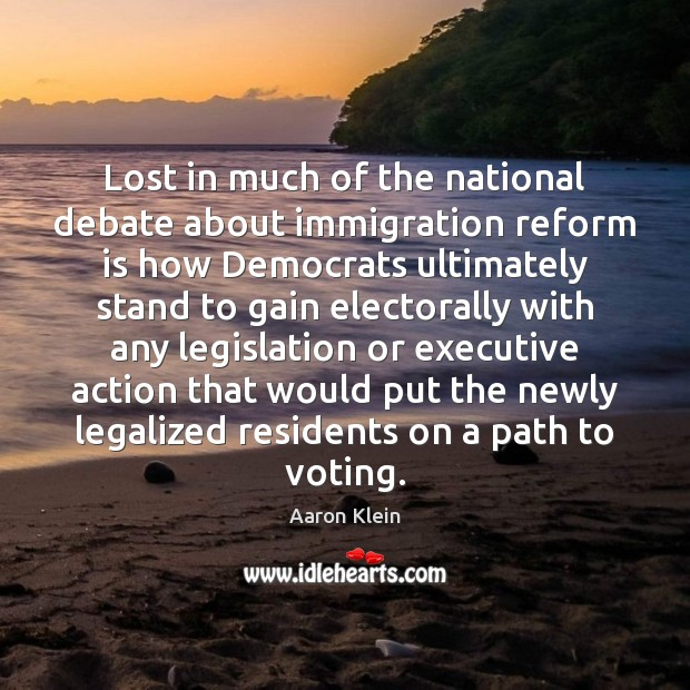 Image, Lost in much of the national debate about immigration reform is how