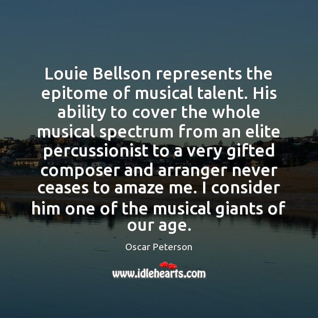 Image, Louie Bellson represents the epitome of musical talent. His ability to cover