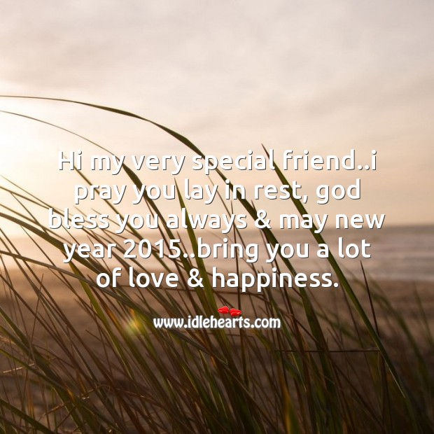 Love & happiness. Happy New Year Messages Image