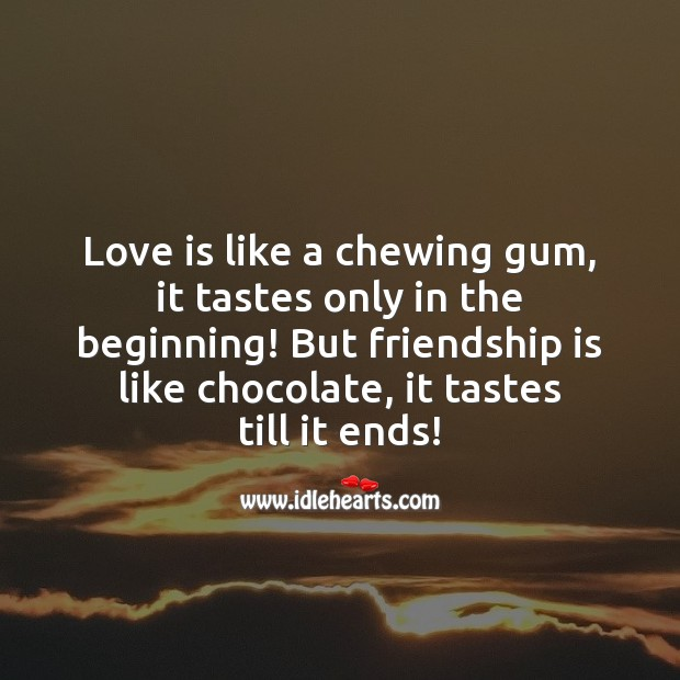 Love and friendship difference Friendship Messages Image