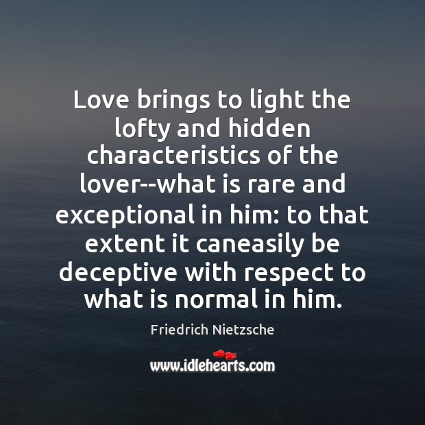 Love brings to light the lofty and hidden characteristics of the lover–what Image