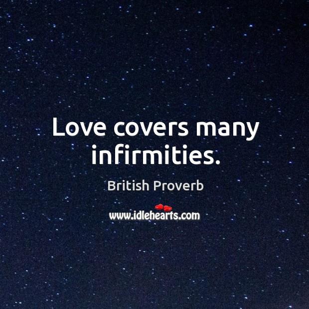 Image, Love covers many infirmities.