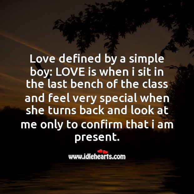 Image, Love defined by a simple boy