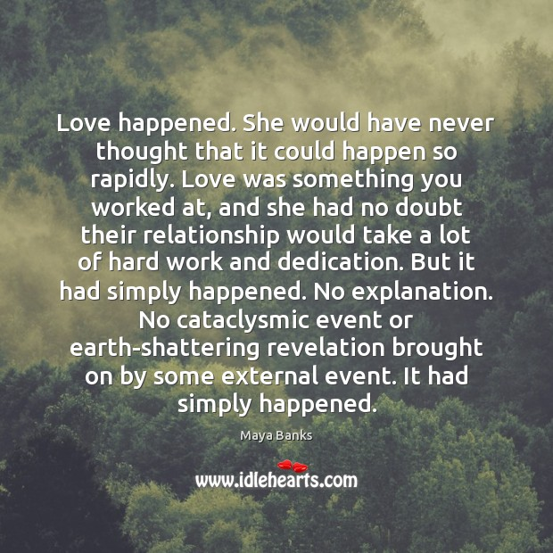 Image, Love happened. She would have never thought that it could happen so