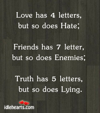 Love Has Four Letters, But So Does…