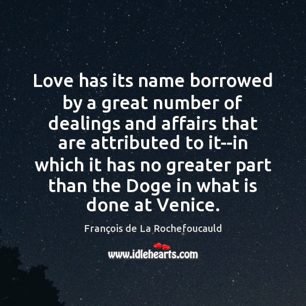 Love has its name borrowed by a great number of dealings and Image