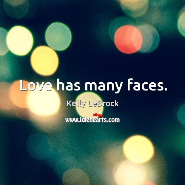 Love has many faces. Image