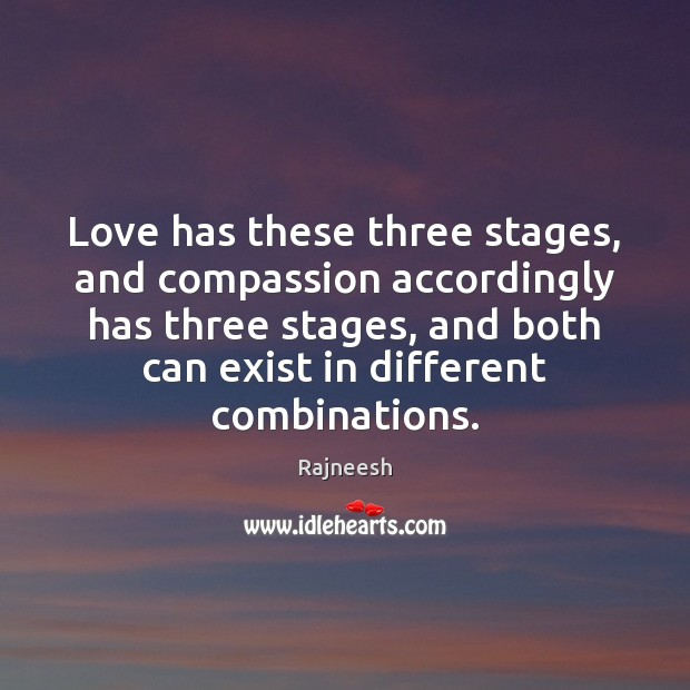 Image, Love has these three stages, and compassion accordingly has three stages, and