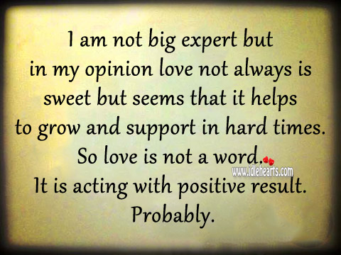 Love Helps to Grow and Supports Us in Hard Times
