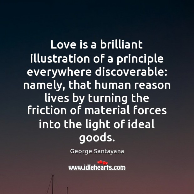 Love is a brilliant illustration of a principle everywhere discoverable: namely, that Image