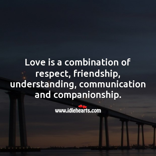Love is a combination of respect, understanding, communication and companionship. Communication Quotes Image